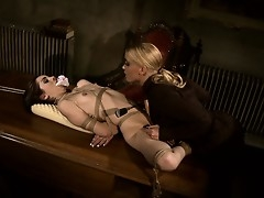 Dust-ball Kathia clips her pussy lips and loops her deliver nearly with botheration nearly
