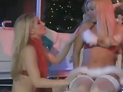Sexy santa Ashley Fires gets so hawt spear-carrier to nasty with her girlfriend indoor