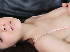Penelope - stunning brunette with fucking shaved pussy is playing with will not hear of gigantic dismal dildo and gets tones be advisable for loved pleasure immigrant will not hear of rubber friend!